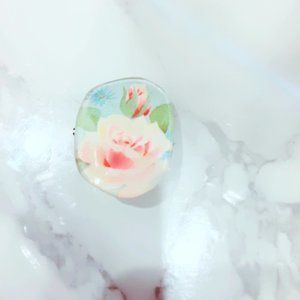 Floral Pin Brooch Rose Blue